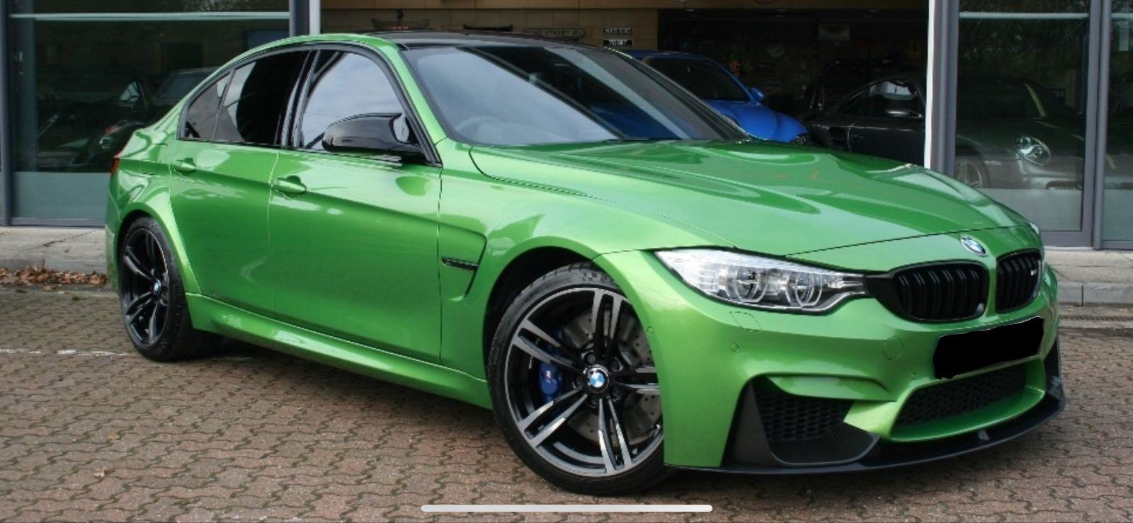 BMW M3 in BMW individual Java Green special order paintwork